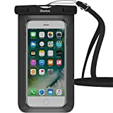 Waterproof Case,1 Pack iBarbe Universal Cell Phone Dry Bag Pouch Underwater Cover for Apple iPhone 7 7 plus 6S 6 6S Plus SE 5S 5c samsung galaxy Note 5 s8 s8 plus S7 S6 Edge s5 etc.to 5.7 inch,Black