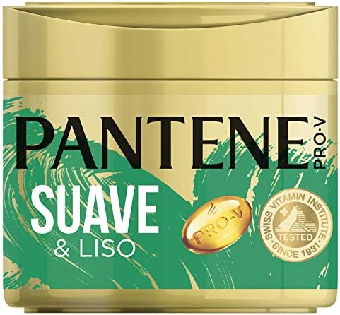 Pantene Pro-V Suave & Liso Mascarilla capilar de queratina para pelo apagado y encrespado, 300 ml