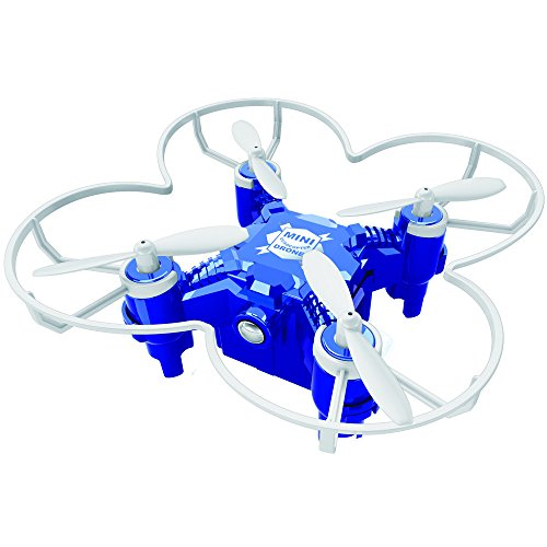 Tiean FQ777 124+ 4CH 6-Axis Gyro RTF 3D Eversion RC Pocket Quadcopter Drone Toy (Blue) by Tiean