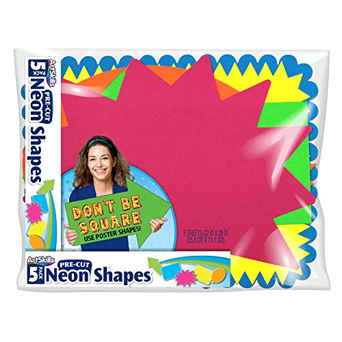 ArtSkills Large Pre Cut Poster Board Shapes, 22