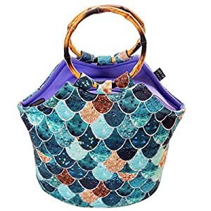 Neoprene Lunch Bag Purse by Art of Lunch - Artist Monika Strigel (Germany) and Art of Liv'n have Partnered to donate $.40 of every sale to Pacific Whale Foundation - Really Mermaid