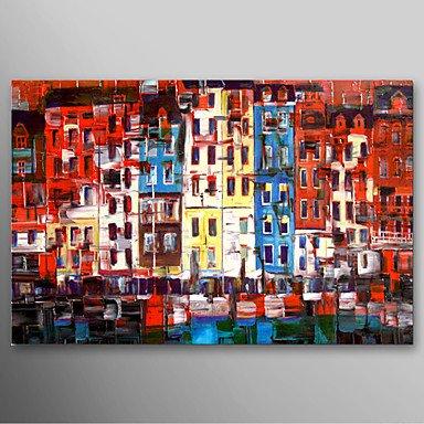 F Latoo Pintado A Mano La Pintura Al óleo Paisaje Edificios