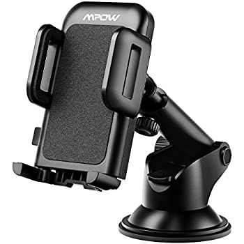 Mpow Car Phone Mount, Washable Strong Sticky Gel Pad with One-Touch Design Dashboard Car Phone Holder for iPhone X/8/8Plus/7/7Plus/6s/6Plus/5S, Galaxy S5/S6/S7/S8, Google Nexus, LG, Huawei and More