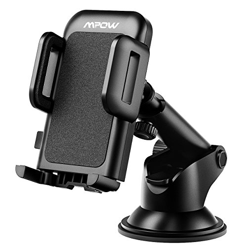 Phone Holder for Car, Mpow Universal Car Phone Mount with Strong Sticky Gel Pad, Adjustable Dashboard Windshield Cell Phone iPhone Mount Holder Cradle for iPhone 6S/6/8/8Plus/7/7S/7plus/5/5S Samsung Galaxy S7/S7 edge/S8/8 Plus/a5/S5/S4/Note 2/Note 8Plus/LG g6/G5/G4/Google pixel/Nexus 6p,GPS and other smartphones—Black