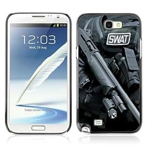 Designer Depo Hard Protection Case for Samsung Galaxy Note 2 N7100 / Shot Gun & Swat Suit by icecream design