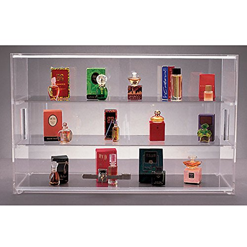 New Acrylic Countertop showcase with lock, Measures: 21''w x 13''h x 7.5''d, Color: Clear