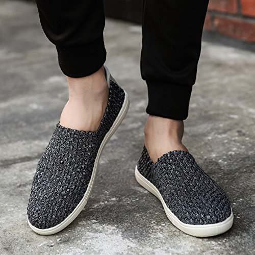 HGTYU Man Old Beijing Shoes Deodorant Soft Bottom Shoes The Korean Version Of The Trend No Shoes Casual Shoes All-Match Air Max Dark grey
