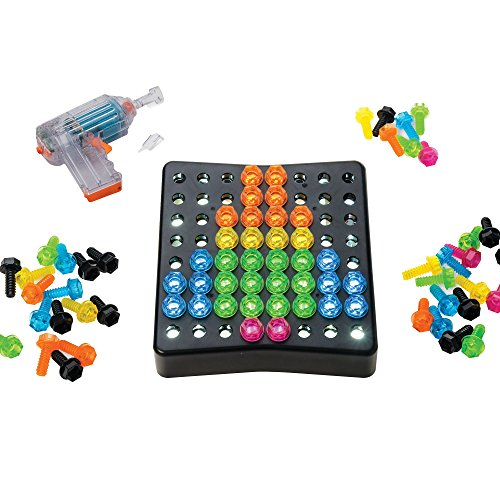 Educational Insights Design & Drill BrightWorks: Over 80 Pieces—Preschool Light Up Drill Toy, STEM Learning