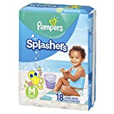 Pampers Splashers Swim Diapers Disposable Swim Pants, Medium (20-33 lb), 18 Count