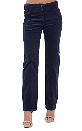 Ladies Straight Leg Cords Jeans Womens Stretch Corduroy Pants ...