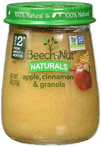 - Beech-Nut Stage 2 Baby Food, Apple/Cinnamon/Granola, 4.0 Ounce (Pack of 10)