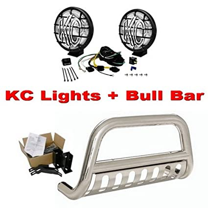 Amazon premium 3 stainless steel bull bar bumper brush guard premium 3 stainless steel bull bar bumper brush guard with skid plate n71397 aloadofball Images