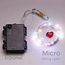 LIDORE Micro LED 30 Multi Color String Lights with Timer. Waterproof series. 3AA Battery Operated