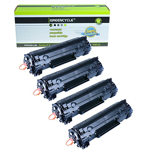 GREENCYCLE ® 4 Pack 3483B001 Black Toner Cartridges For Canon 126 ImageClass LBP6200d
