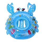 O-Toys Swimming Ring Pool Baby Toddlers Inflatable Raft Water Floating Boat for Kids Crab Blue