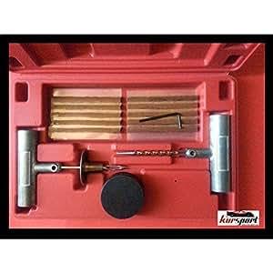 Kit reparacion de pinchazos para neumaticos. Estuche repara pinchazos. Herramientas para reparar pinchazos en neumaticos.: Amazon.es: Coche y moto