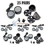 25 PACK 500w High Frequency Car Truck Stereo Super Tweeters Built-in Crossover XTC-3300