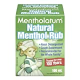 Mentholatum Natural Menthol Rub Ointment, 3.38-Ounce