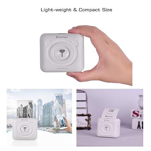 MKLKYY Peripage Mini Pocket Wireless BT Impresora Térmica ...