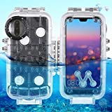 RedGoodThings Huawei P20 Pro Dry Bag Case, PULUZ 40m/130ft Waterproof Diving Housing Photo Video Taking Underwater Cover Case for Huawei P20 Pro (Color : Transparent)