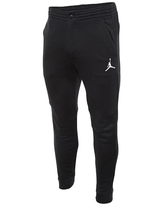 100e6082f30fc1 Nike  814802-010  AIR JORDAN CITY FLEECE PANT APPAREL PANTS AIR  JORDANBLACK WHITE