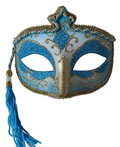 Tasseled Mardi Gras Mask - Morris Costumes Halloween Party Tasseled Mardi