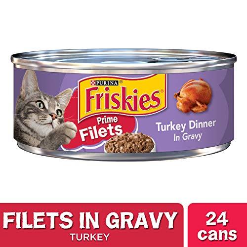 Purina Friskies Gravy Wet Cat Food, Prime Filets Turkey Dinner - (24) 5.5 oz. Cans
