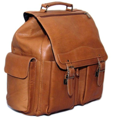Cape Cod Leather Mountain Premium Leather Backpack (Tan), Bags Central