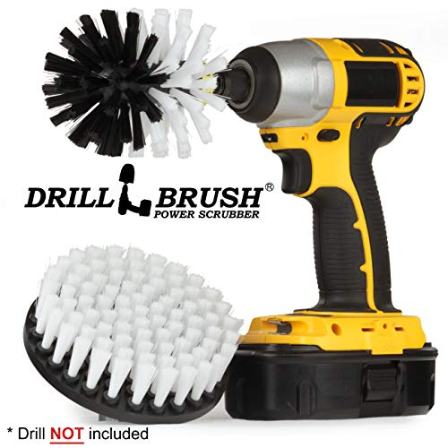 Inflatable Watercraft - Drill Brush - Boat Accessories - Cleaning Supplies - Rotary Cleaning Brushes Boats And Watercraft - Kayak - Raft - Jet Ski - Canoe - Inflatable - Hull Cleaner - Algae - Moss, Scum, Barnacle, Oxidation