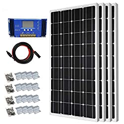 400 Watt Monocrystalline Solar Panel Starter Kit with 30A PWM Solar Charge Controller Off Grid System