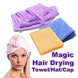 Magic Quick-Dry Hair Towel Hair-Drying Ponytail Holder Cap Towel Lady N Microfiber Hair Towel^