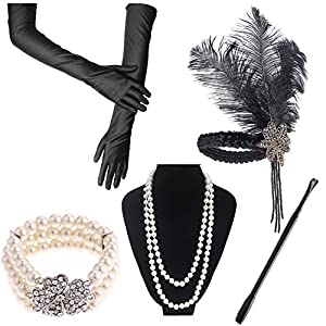 1920s Accessories Great Gatsby Flapper Costume For Women