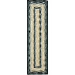 Safavieh Braided Collection BRD311A Hand Woven Black and Grey Area Rug (2\'6\