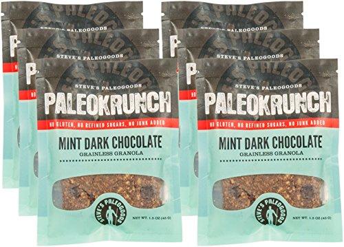 Steve's PaleoGoods, Paleokrunch Bar Mint Dark Chocolate, 1.75 oz (Pack of 6)
