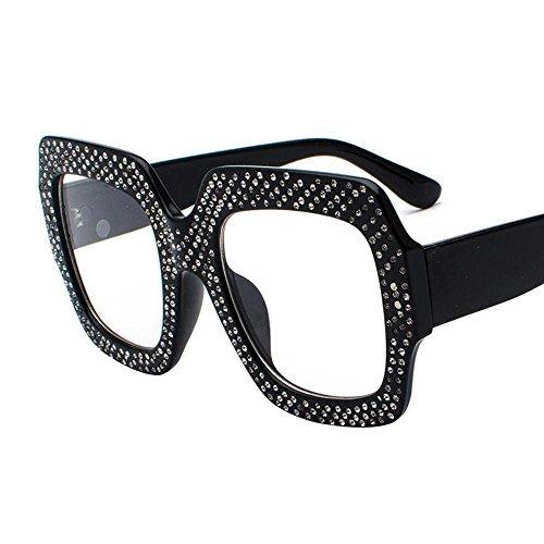 big sale a6542 68498 Aoligei Cadre grand européen et américain lunettes de soleil carrées  personnalité Chao visage féminin avantgarde petit