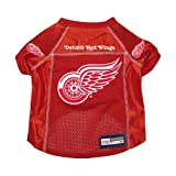 Detroit Red Wings Premium Pet Dog Hockey Jersey w/ Name Tag XL