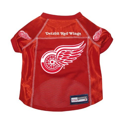 Detroit Red Wings Premium Pet Dog Hockey Jersey w/ Name Tag - Red Dog Hockey