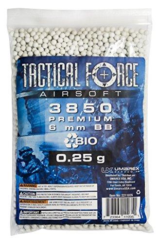 Tactical Force Bio Airsoft 6mm BBs, 0.25g (Umarex Airsoft 6mm Bbs)