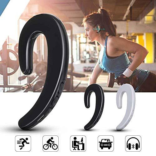 CCS BoneTech Earphones (Pair / 2Pcs)-Bluetooth Headphones Non Ear Plug Headphones Best Xmas Gifts (Black)