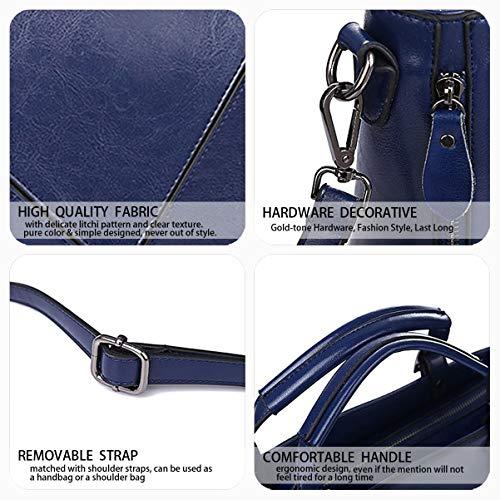 bandolera Shoppers DEERWORD Carteras mano bolsos Bolsos de mujer Bolsos y con para de asa Oscuro hombro Azul wfwBqAz