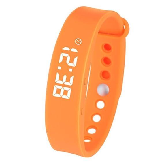Elegante reloj digital, 3d podómetro Monitor sueño Deportes Smart fitness banda y actividad tracker reloj smart watch de-C: Amazon.es: Relojes