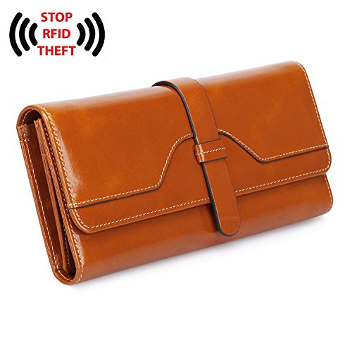 YALUXE Blocking Security Leather Trifold