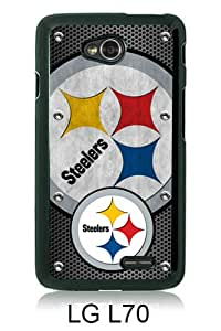 Beautiful And Unique Designed Case For LG L70 With Pittsburgh Steelers 03 black Phone Case