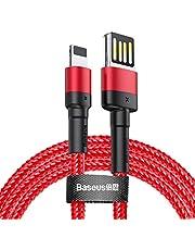Baseus Cafule Special Edition Lightning 2.4A 1m. Kablo, Kırmızı, Kırmızı