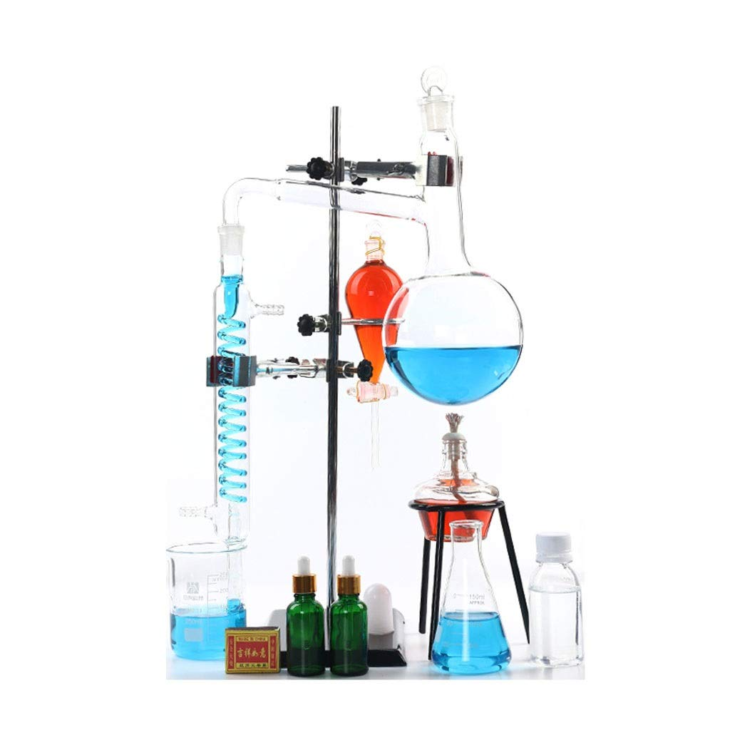 ⛵ SYYP/Distillation Unit Glassware Industrial Science Distiller Magnetic Stirrer Purification and Refining Pure Dew Distilled Water Chemistry Laboratory Y0329