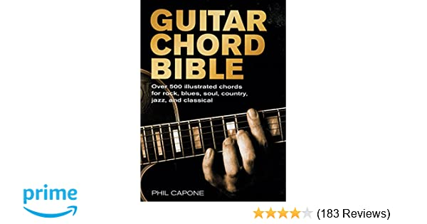 Guitar Chord Bible Music Bibles Phil Capone 9780785820833