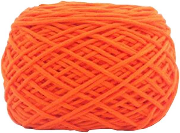 Chinashow hilo de algodón suave clásico de 14 onzas para ganchillo, tejer y hacer manualidades, color naranja: Amazon.es: Hogar