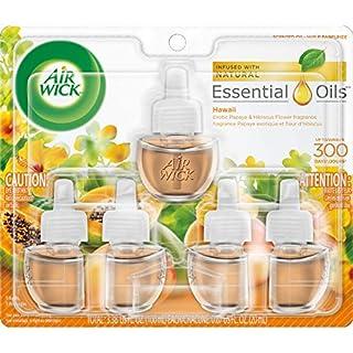 Air Wick plug in Scented Oil 5 Refills, Hawaii, (5x0.67oz), Essential Oils, Air Freshener