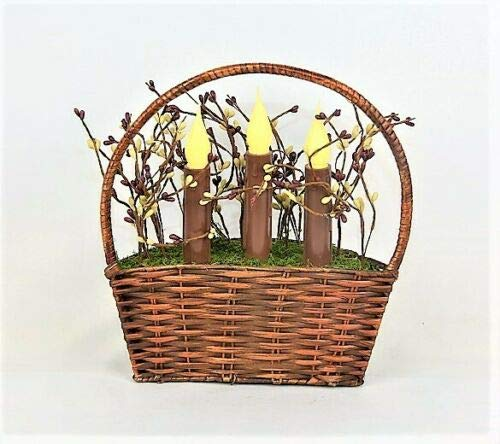 Wowdeal Illuminated Country Basket Accent Battery Operated