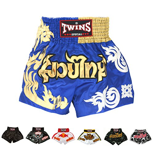 Twins Special Muay Thai Boxing Shorts (TWS-T34 Gold,M)